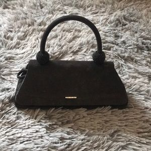 Mini black purse with CZ